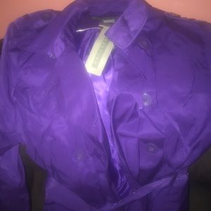 Women's trench coat Kenneth Cole reaction purple